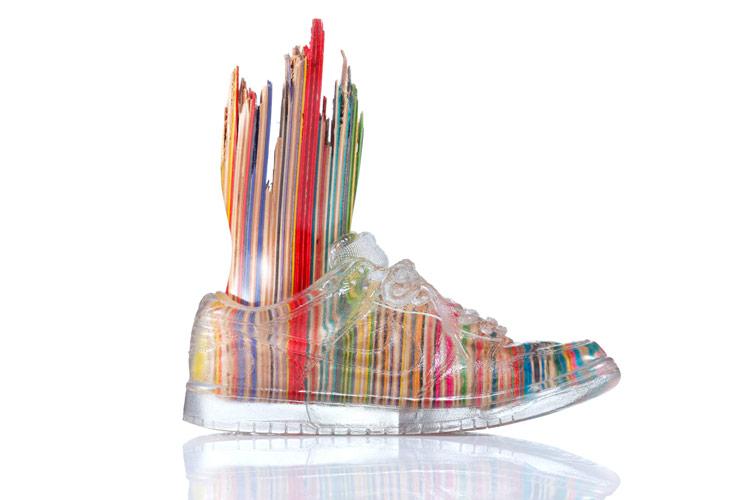 Haroshi Artwork Nike SB Dunks Recycled Skateboards
